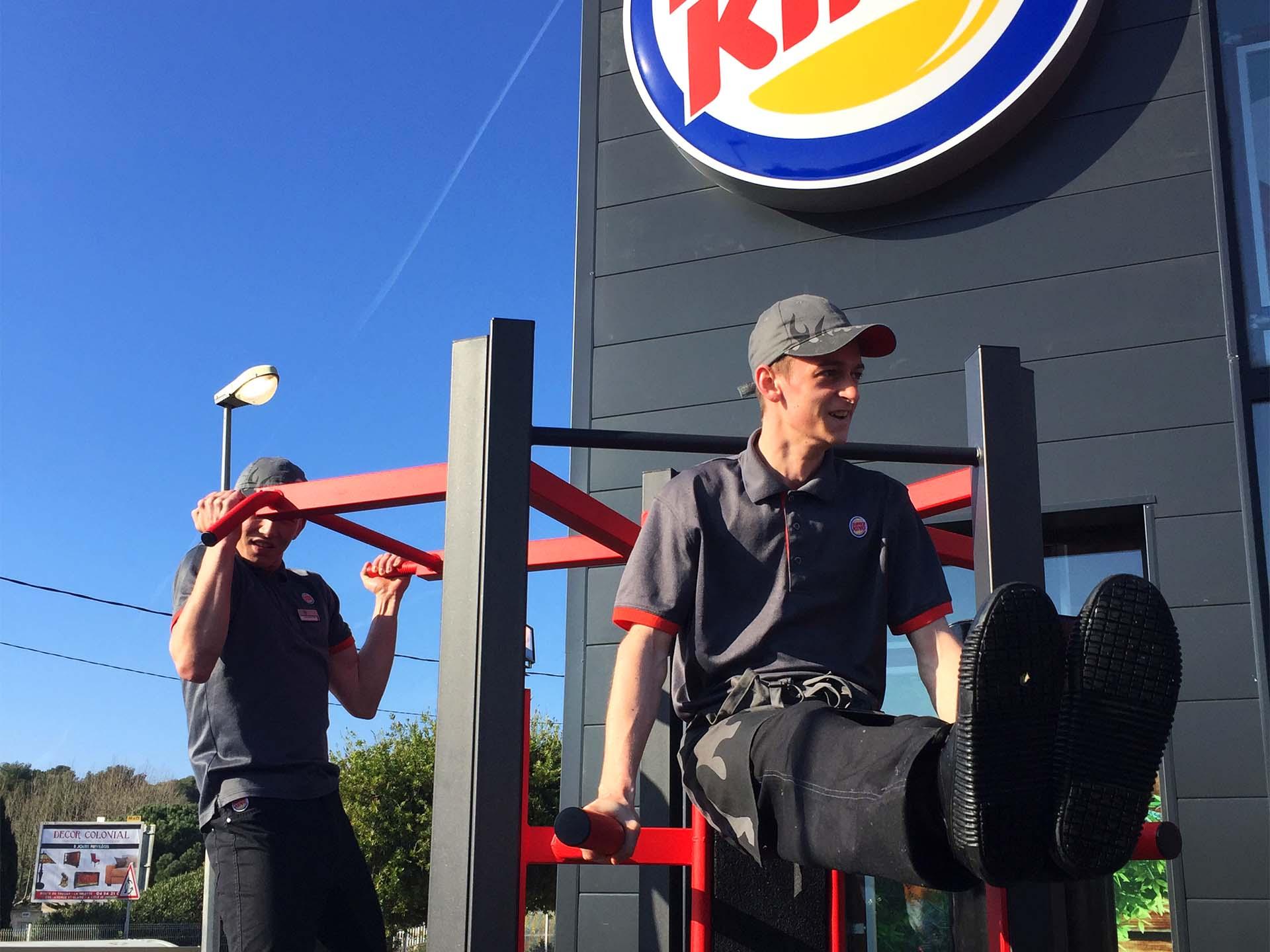 Photo de l'équipement Fitness en extérieur du Burger King de La Garde