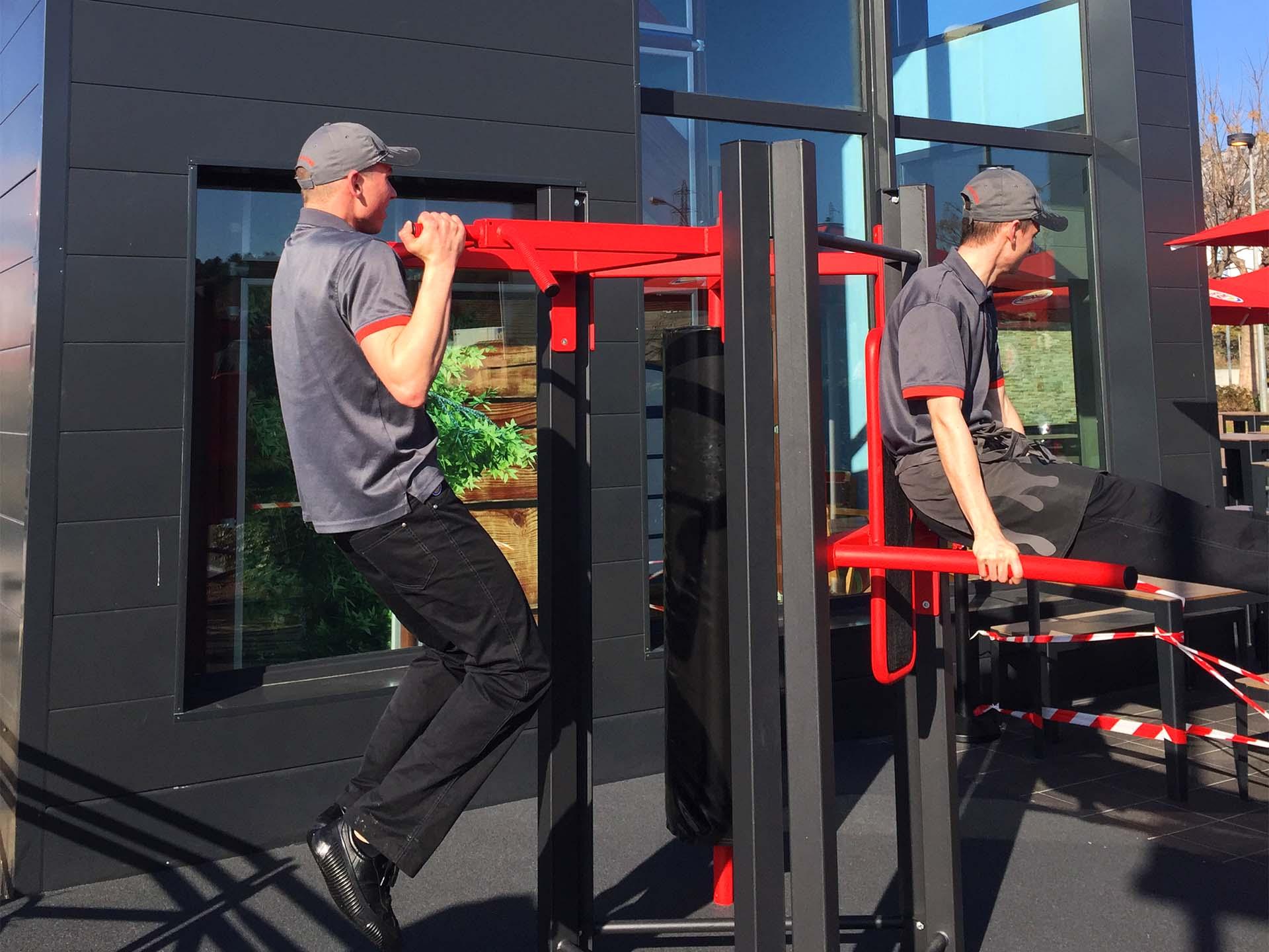 Photo de l'aire de fitness en plein air AirFit du Burger King de La Garde