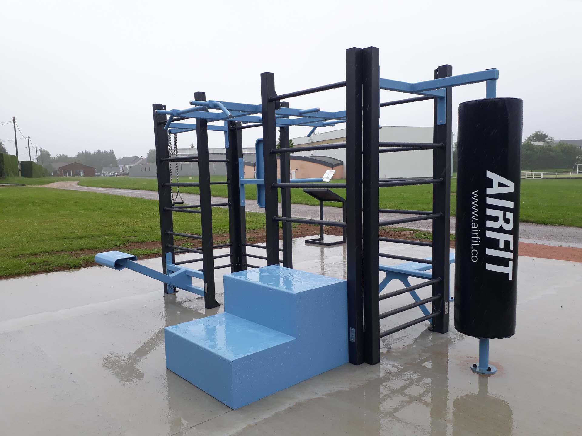 Photo de l'aire de fitness en extérieur AirFit d'Yvetot
