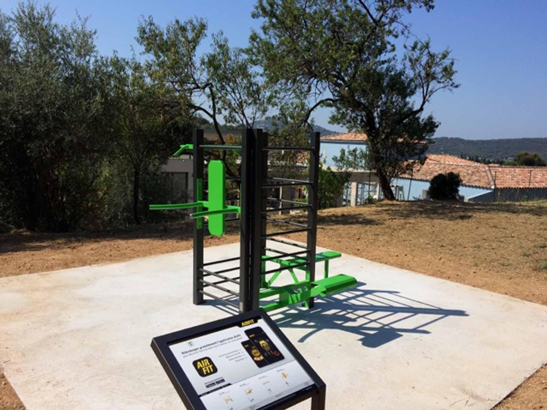 Photo de l'aire de sport du Parc de la Castellanne à Ollioules