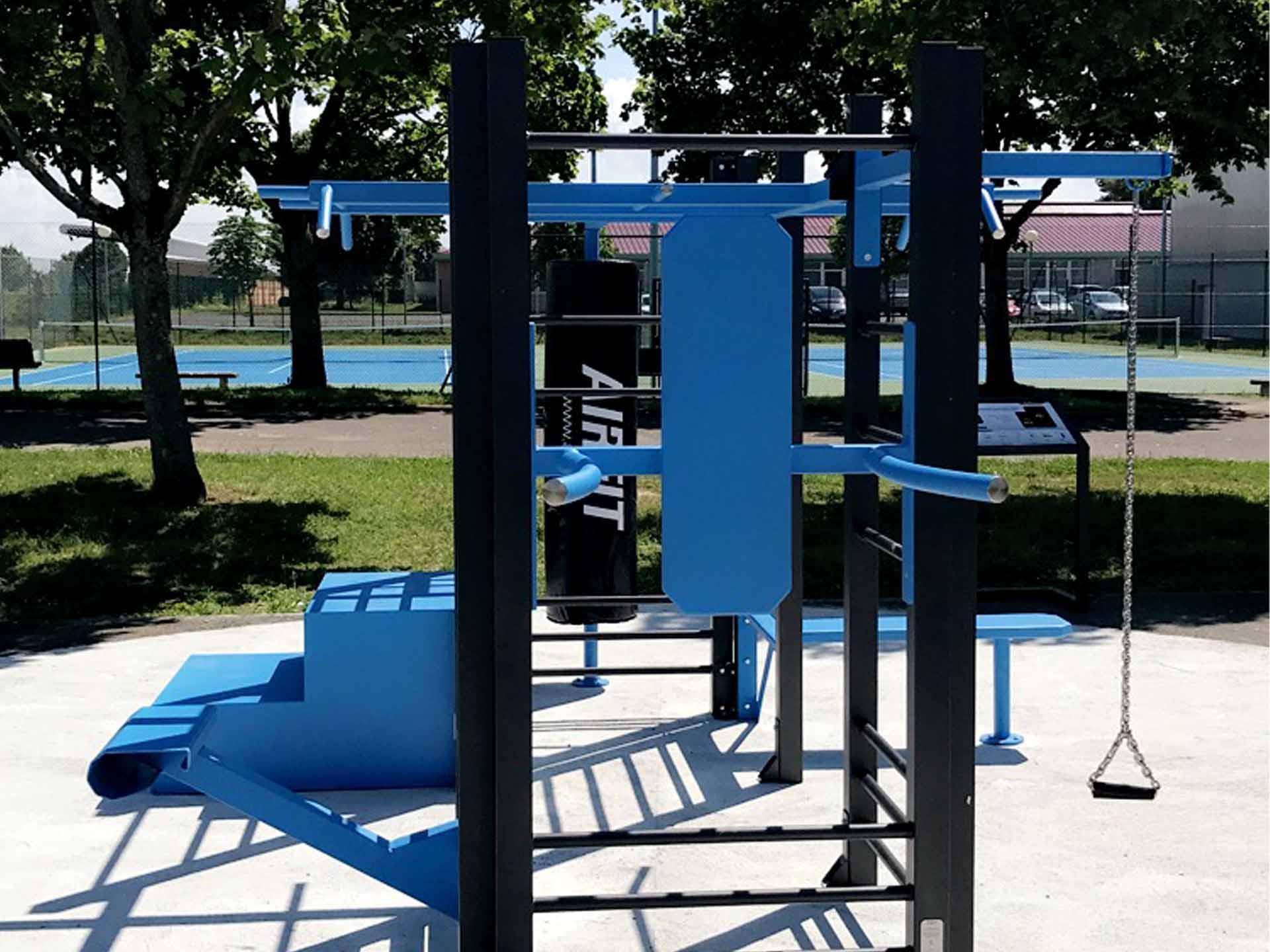 Photo de l'aire de fitness connectée AirFit de Mormant