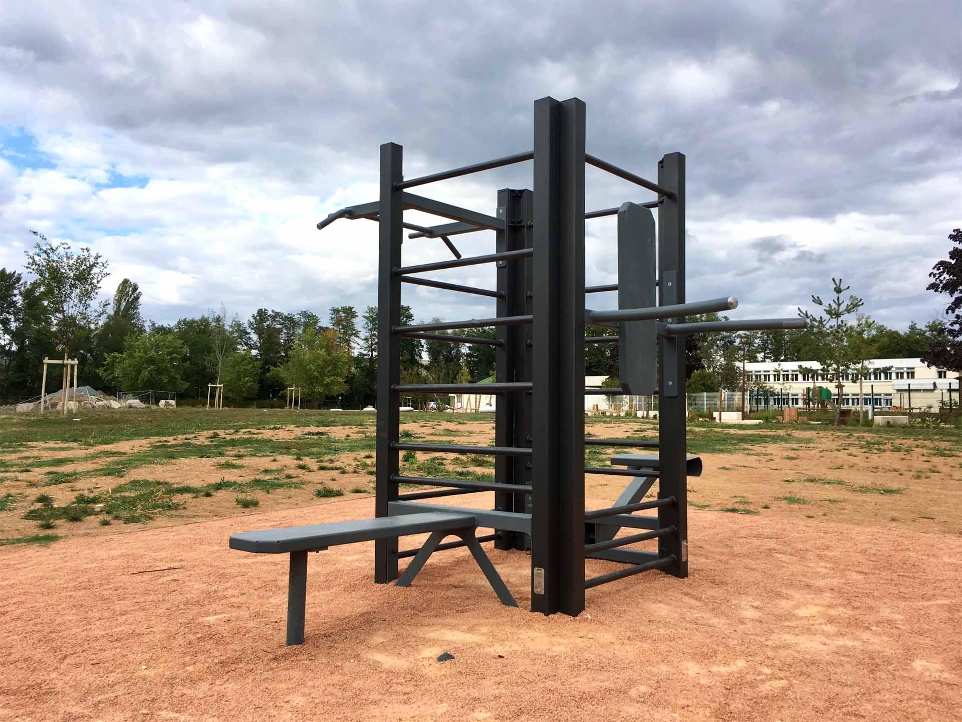 Photo de l'aire de sport du quartier de Presles - Cusset
