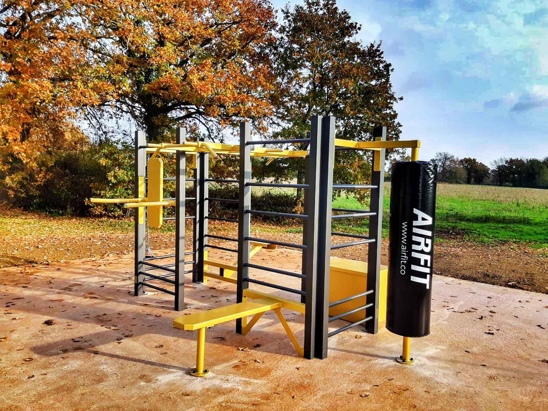 Photo des équipements sportifs en extérieur du Parc de Loisir de Chartres de Bretagne