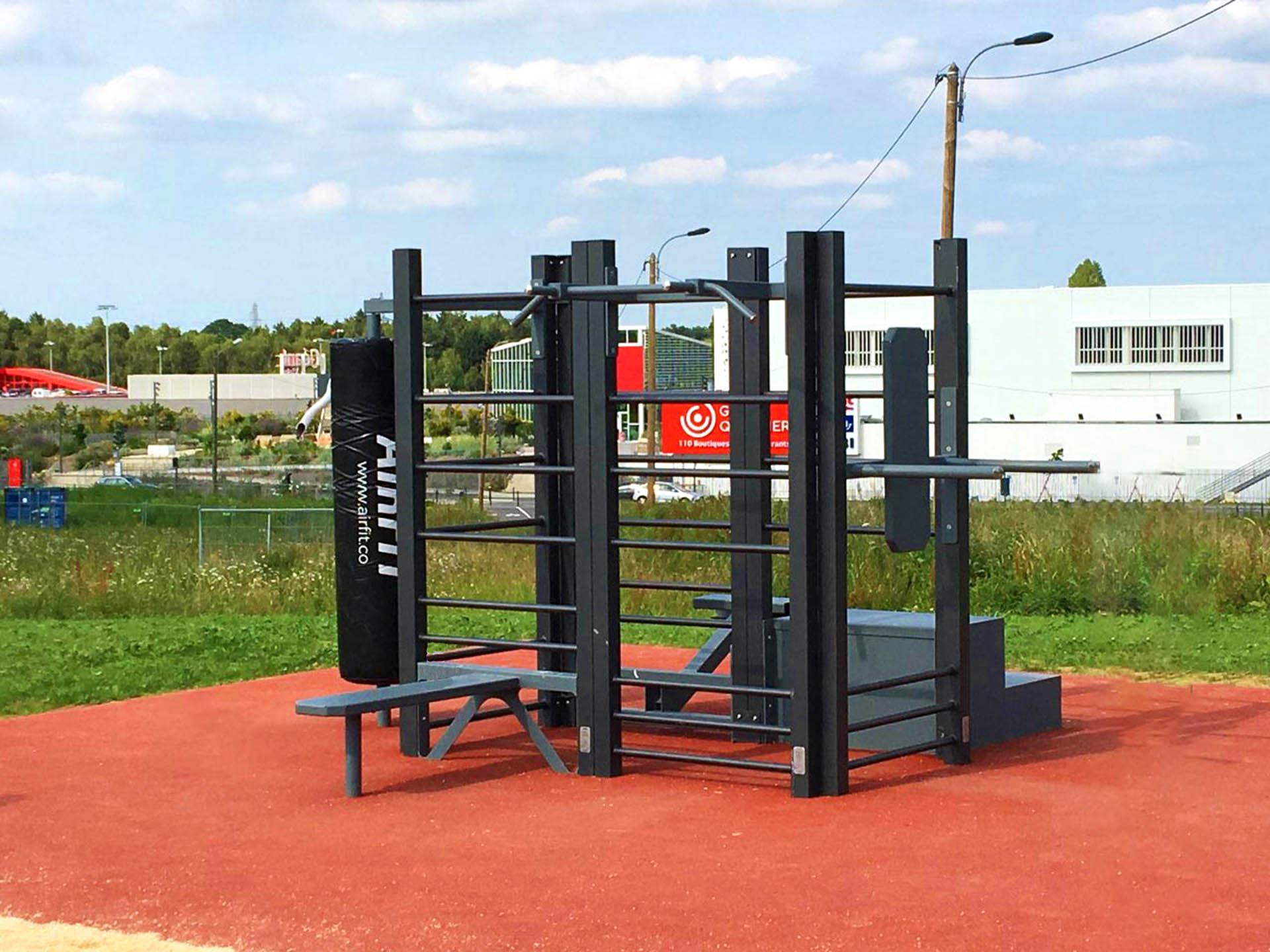 Photo de l'aire de fitness en extérieur AirFit de Rennes