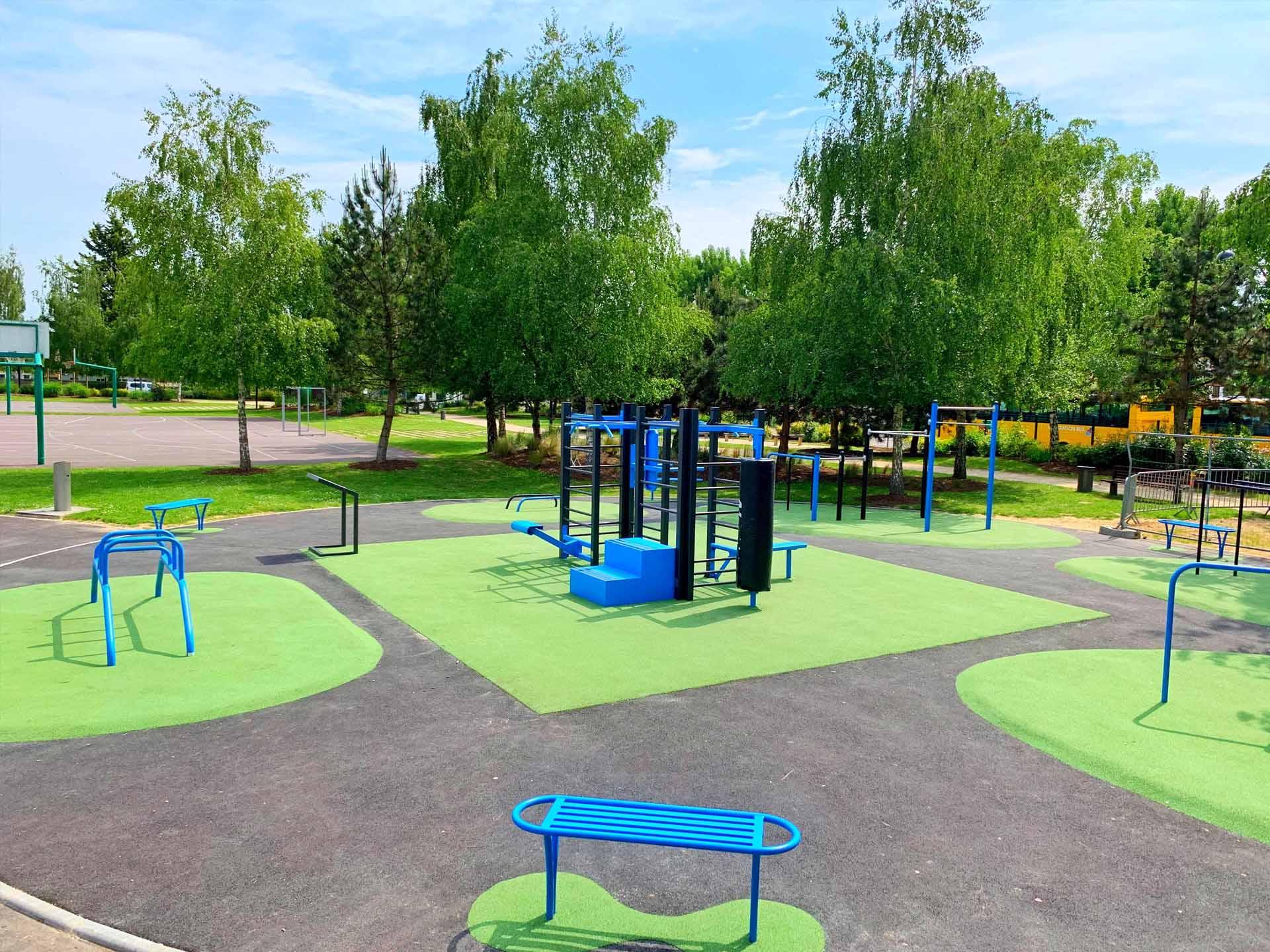 Photo du plateau sportif de plein air au Jardin Sportif de Val de Reuil