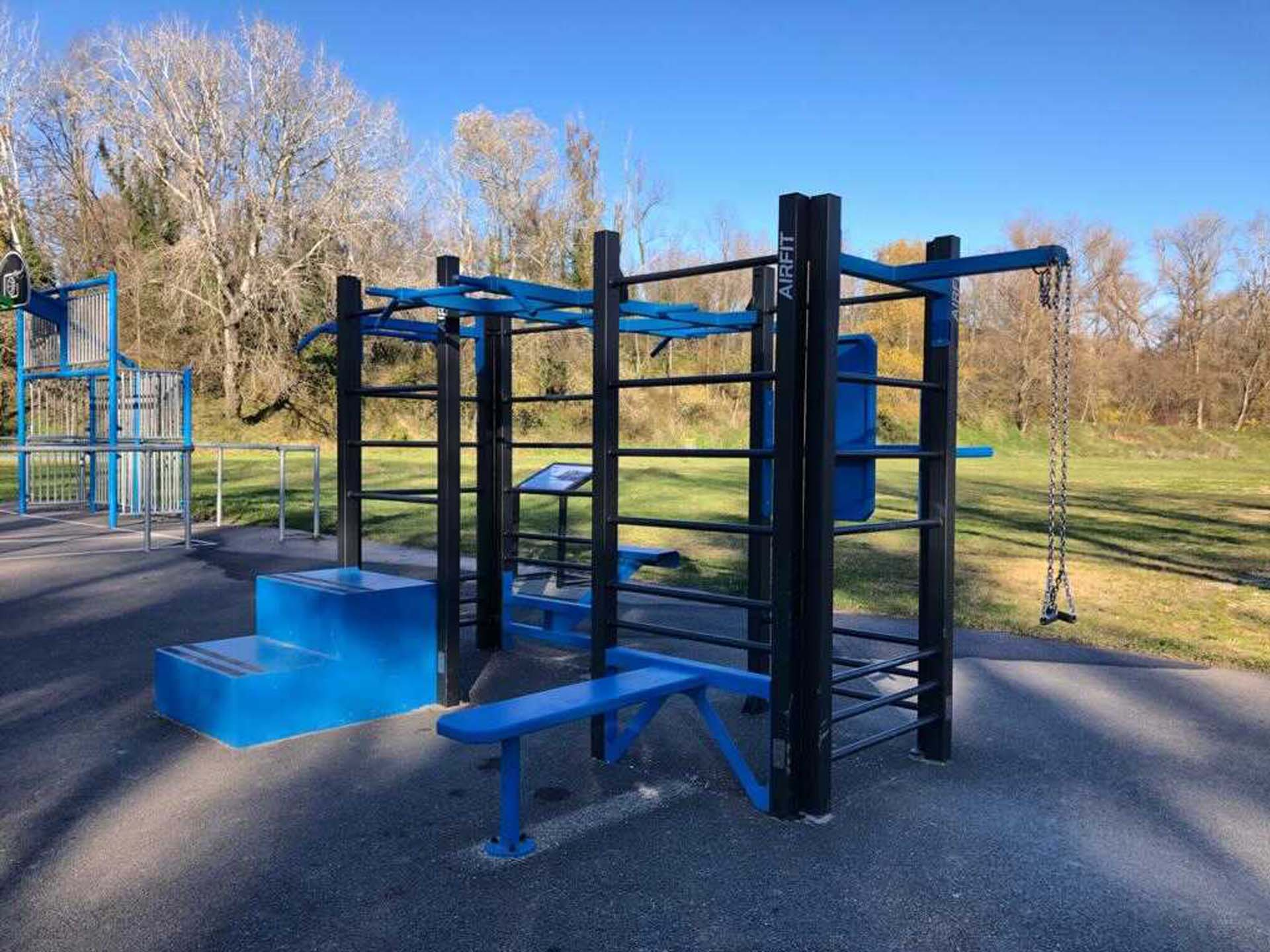 Photo de l'aire de fitness en extérieur AirFit - base de loisirs de Montelimar