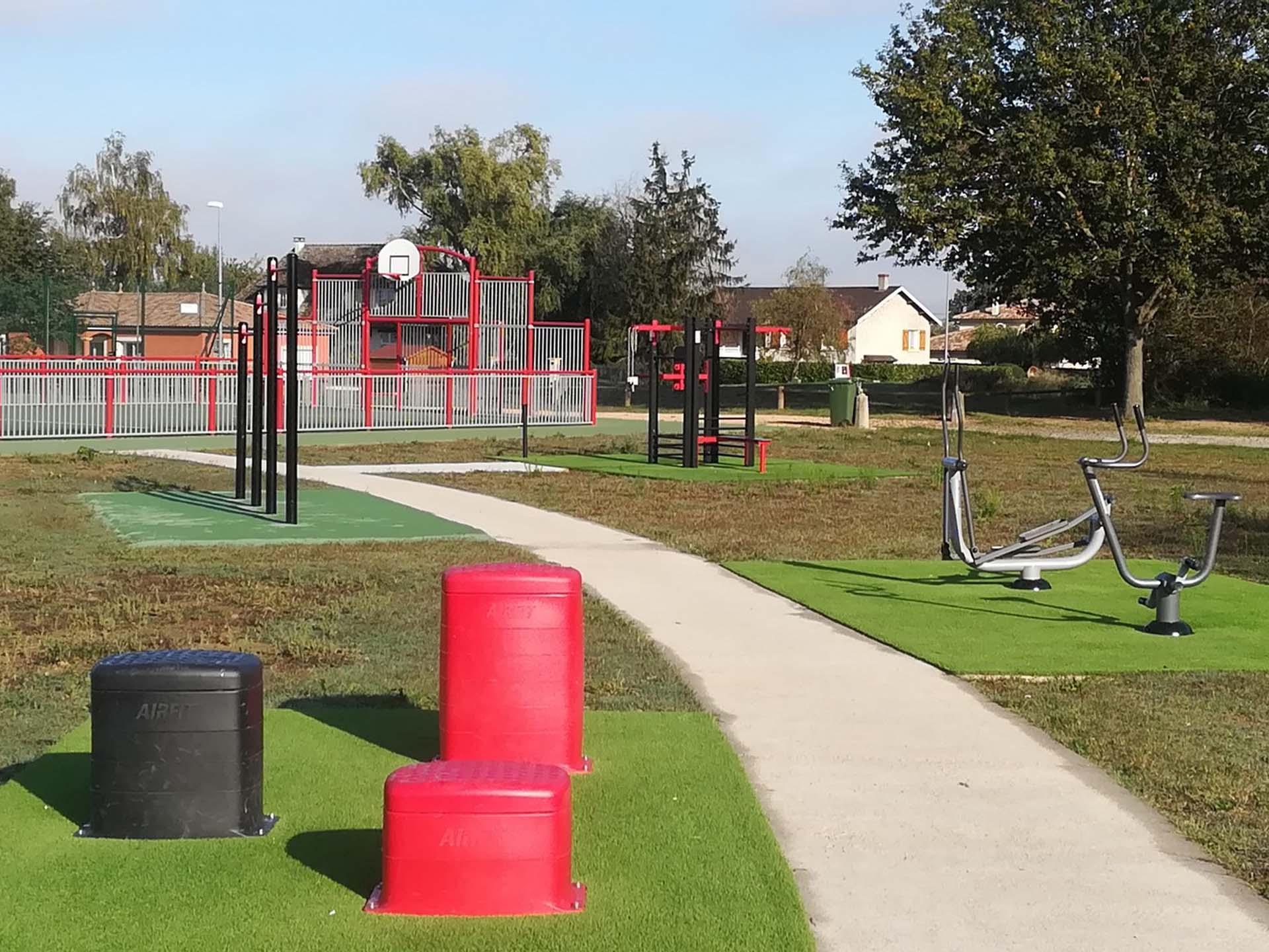 Photo de l'aire de fitness en extérieur AirFit de Replonges