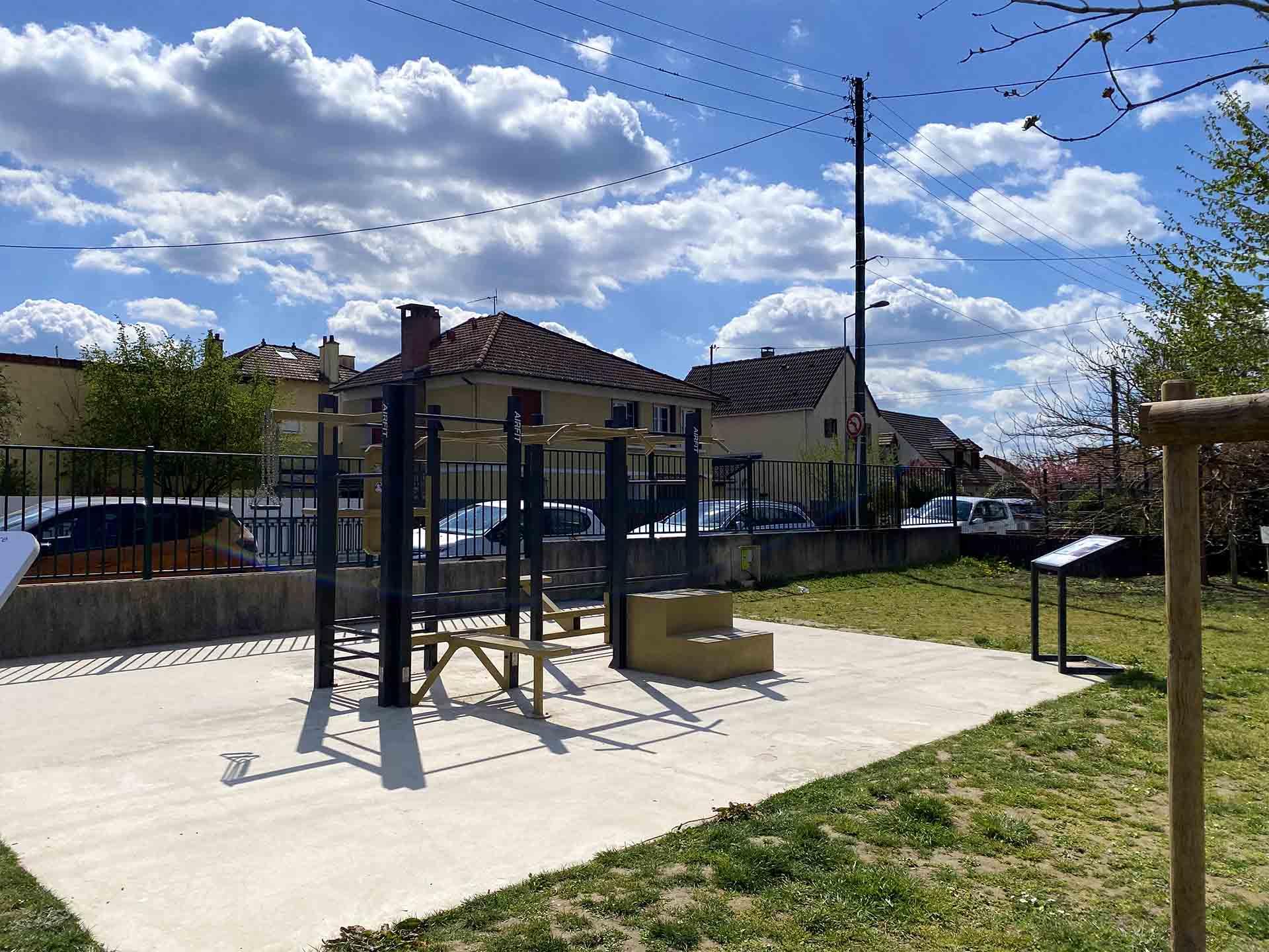 Photo du début du Parcours Santé de l'espace Jemmapes