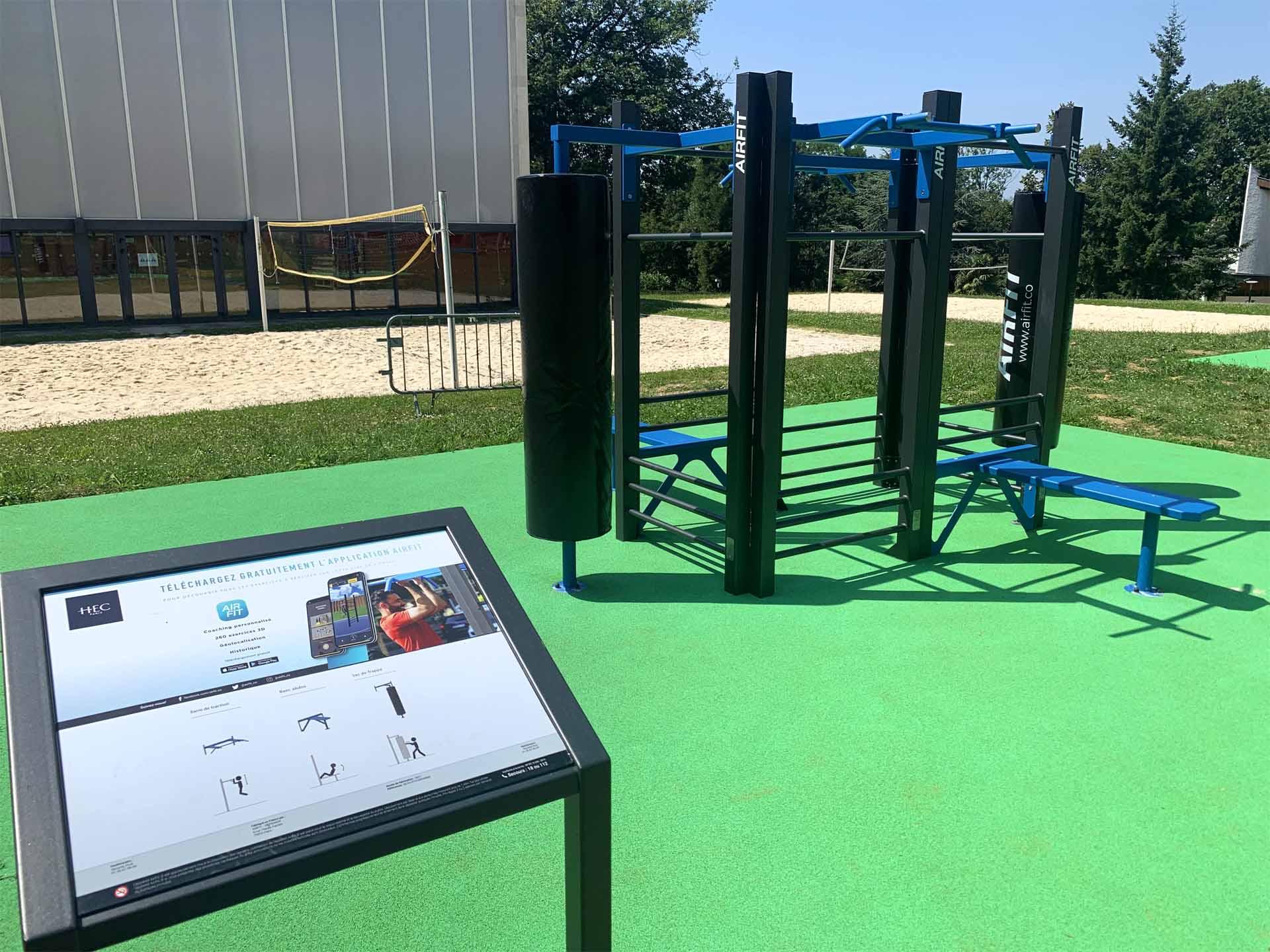 Photo de l'équipement sportif en accès libre du campus HEC Paris