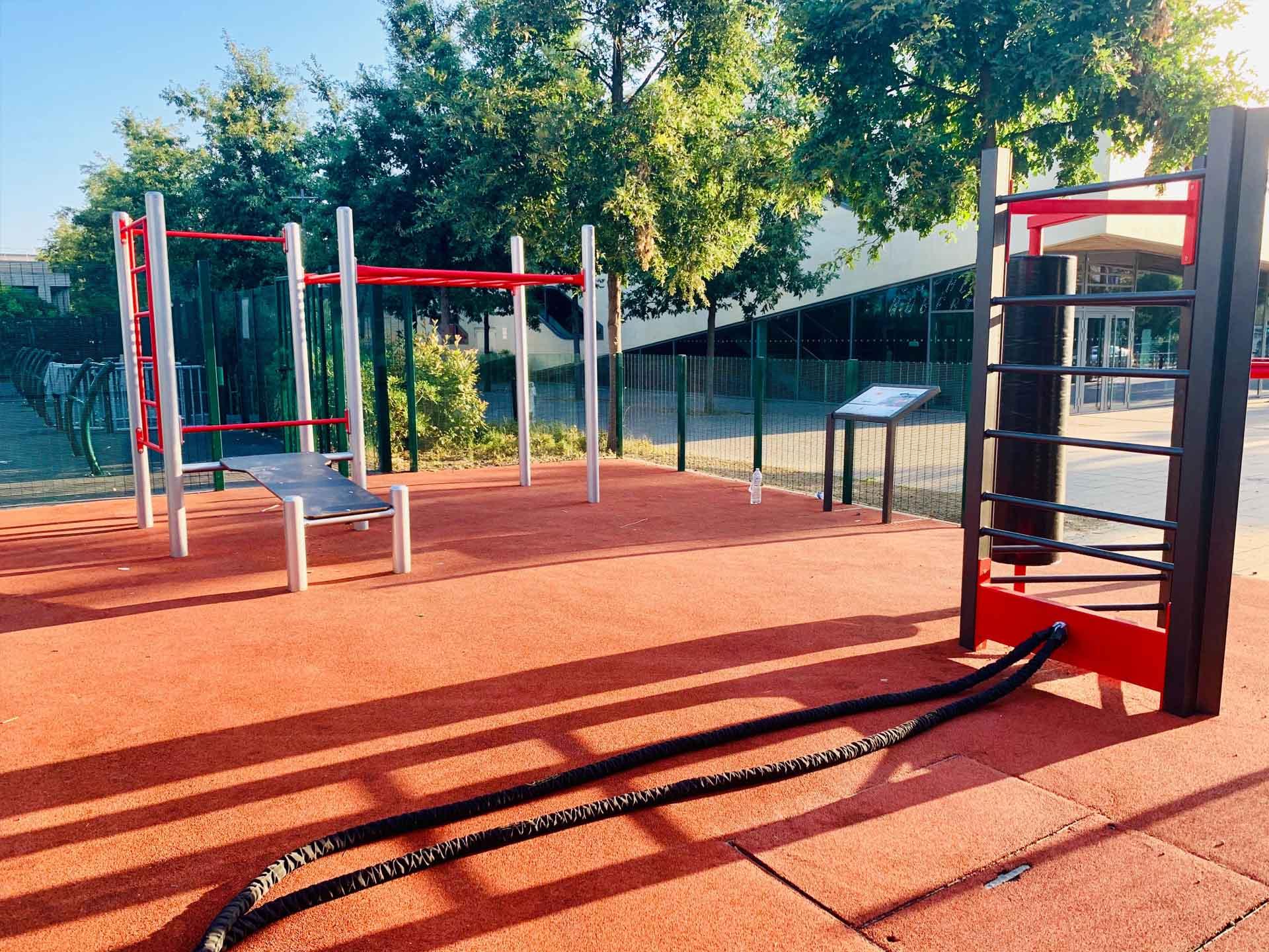 Photo de l'aire de sport à côté du City-Stade de Meudon