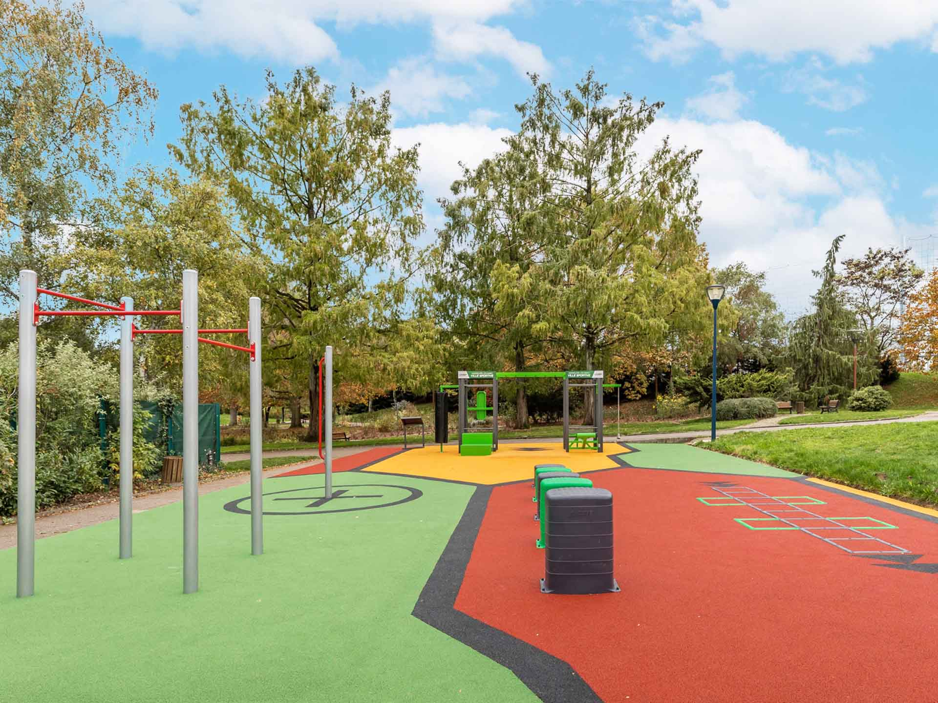 Photo de l'aire de fitness connectée en accès libre de Vandoeuvre lès Nancy