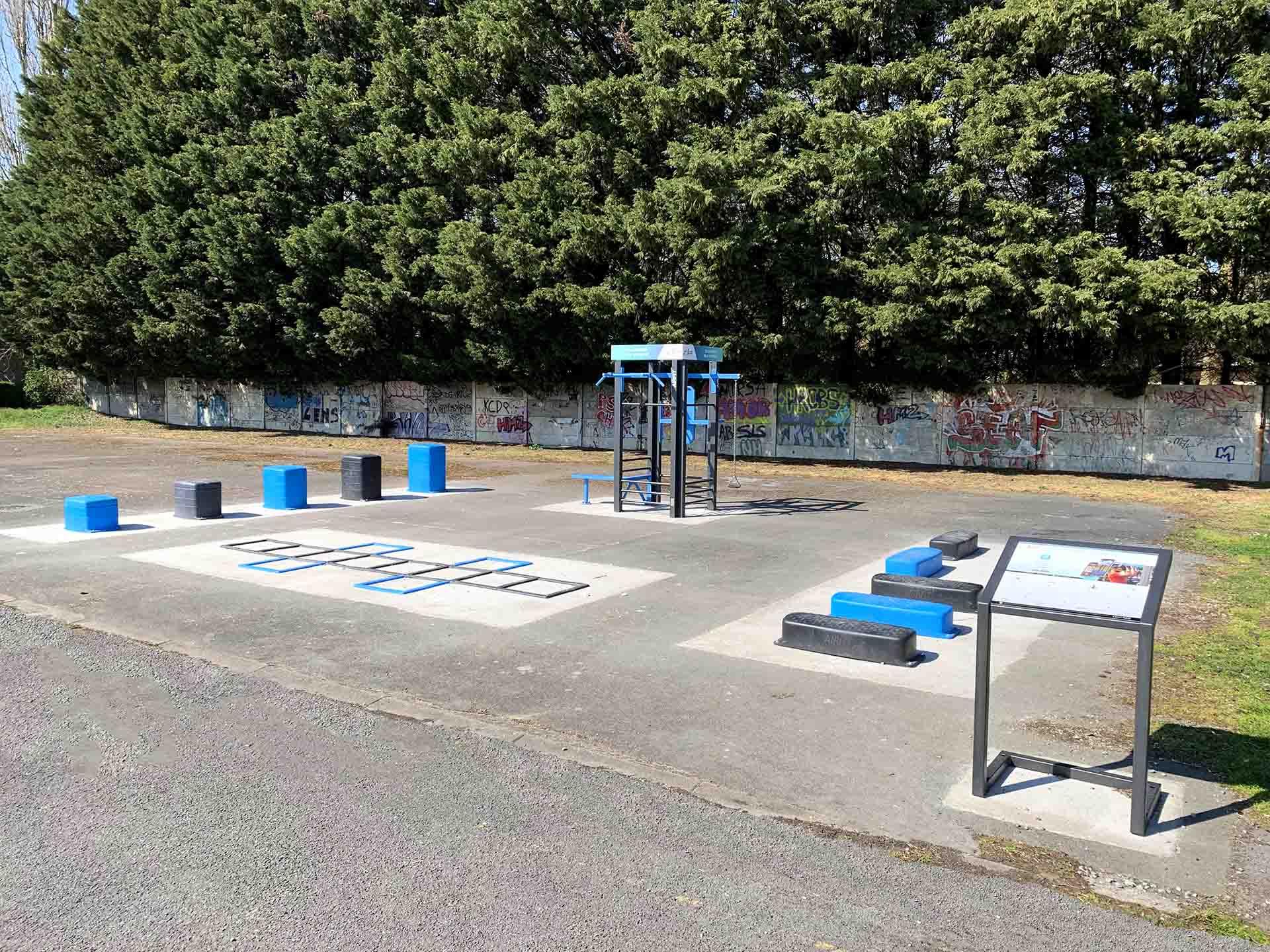 Photo des équipements sportifs en plein air de l'espace sportif Guimier à Sallaumines