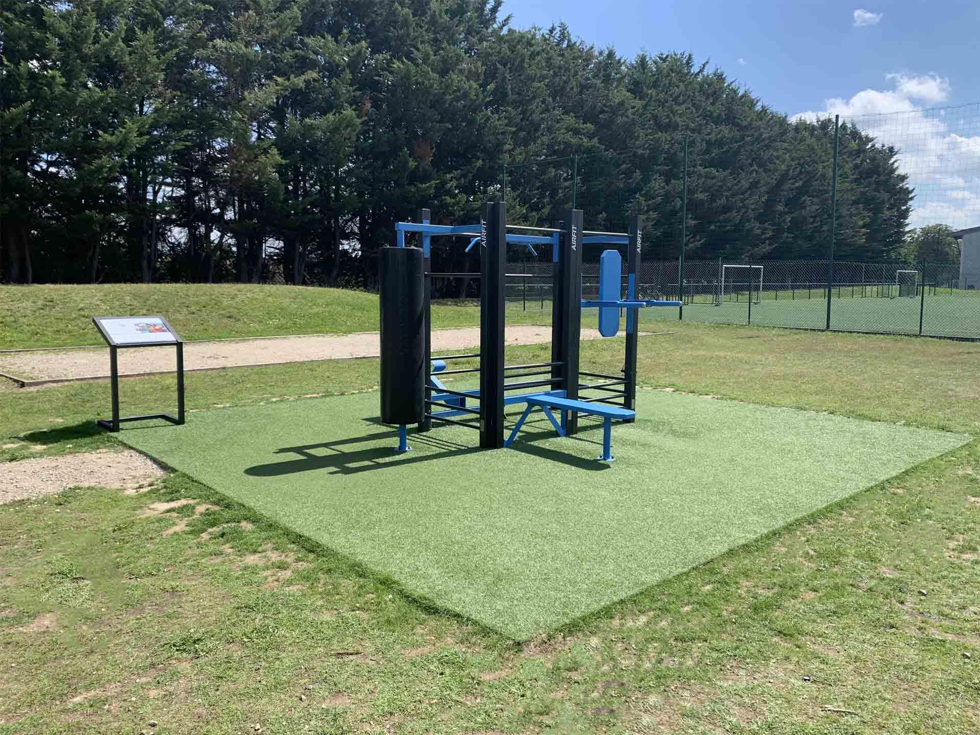 Photo de l'aire de fitness en extérieur AirFit au Palais des Sports de Plaisir