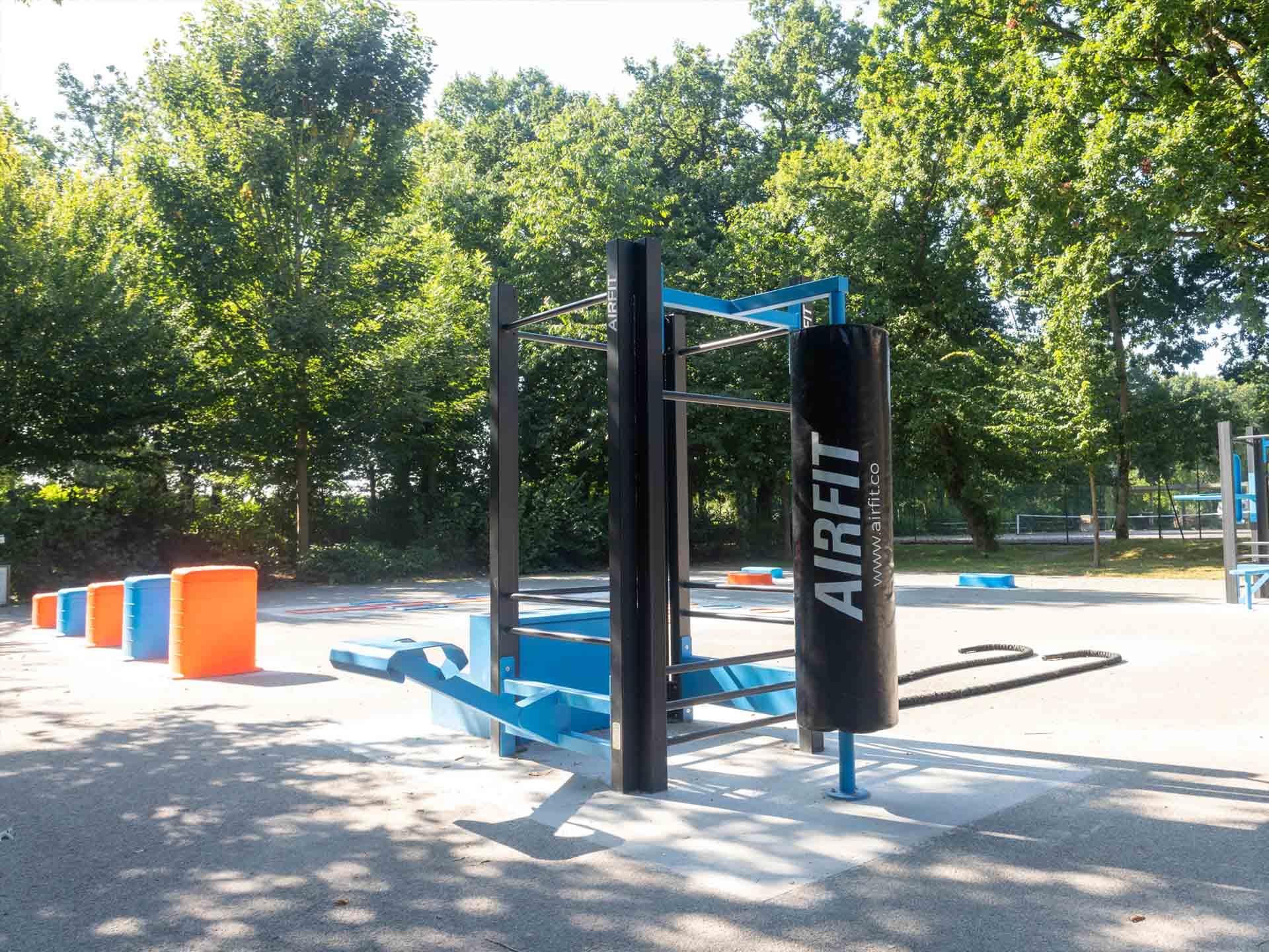Photo des nouveaux équipements sportifs en extérieurs du Parc Aquarev de Loudéac