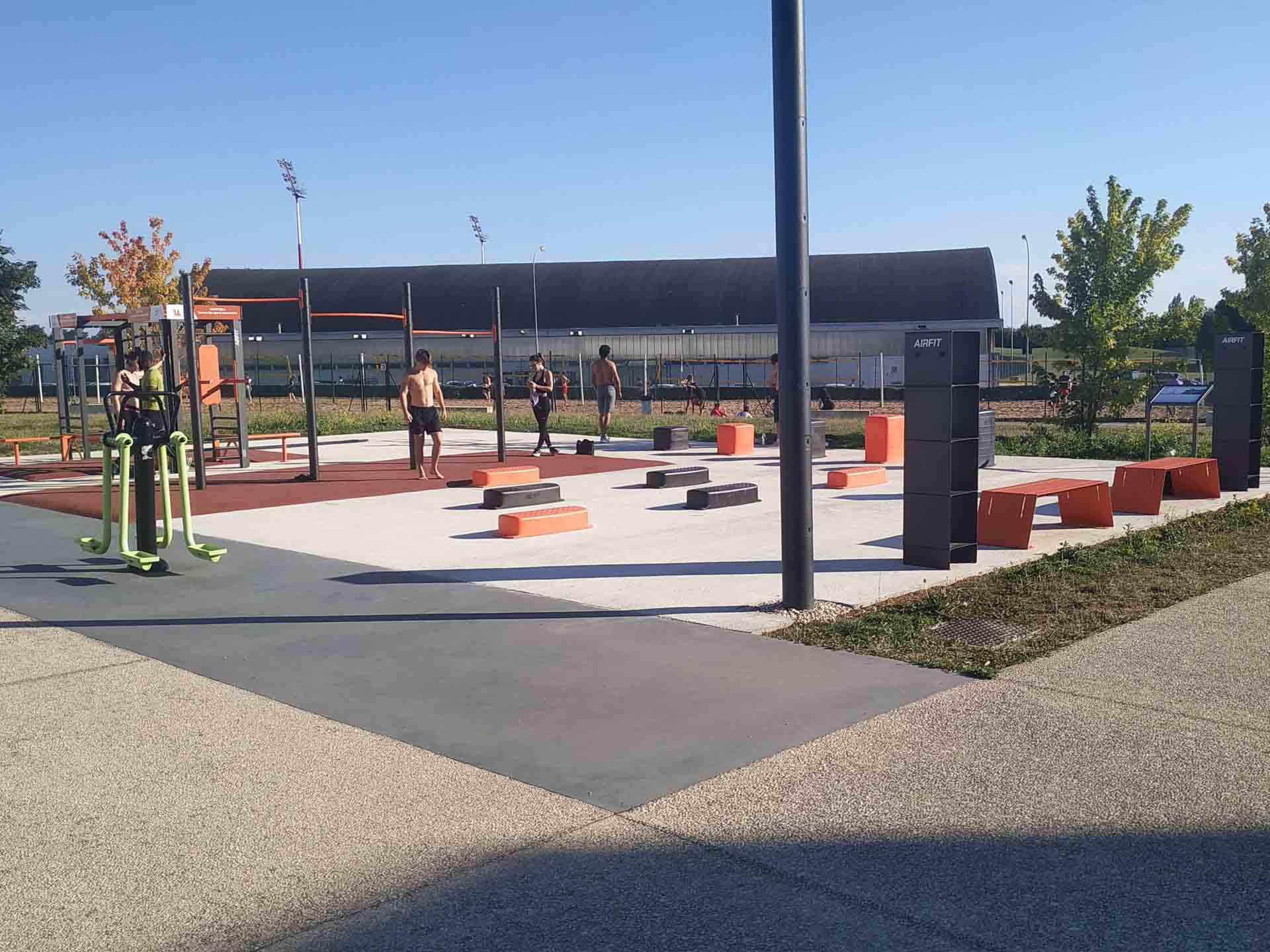 Photo du plateau sportif AirFit du campus universitaire de Dijon