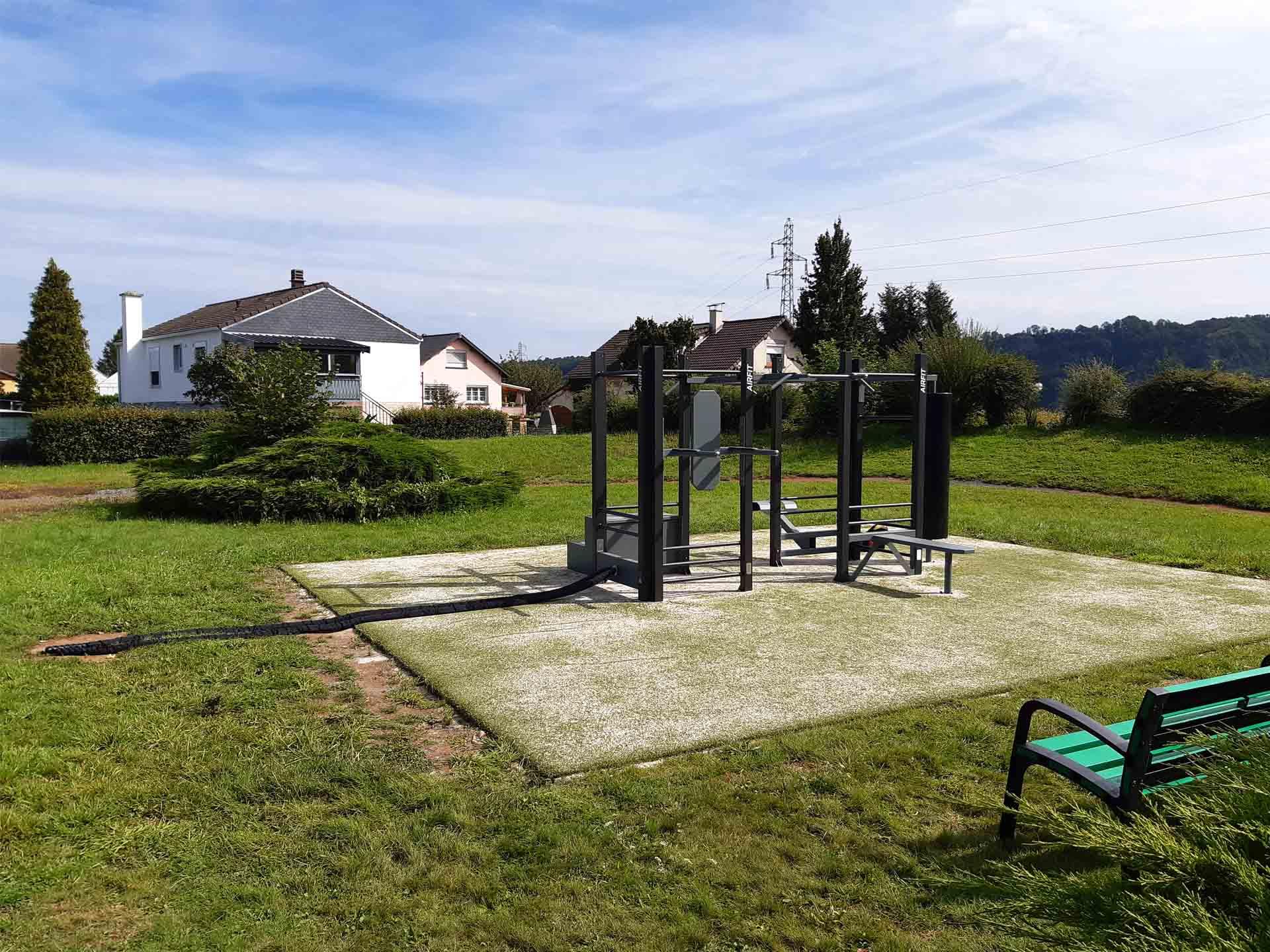 Photo de l'aire de fitness en extérieur AirFit de la ville de Chooz