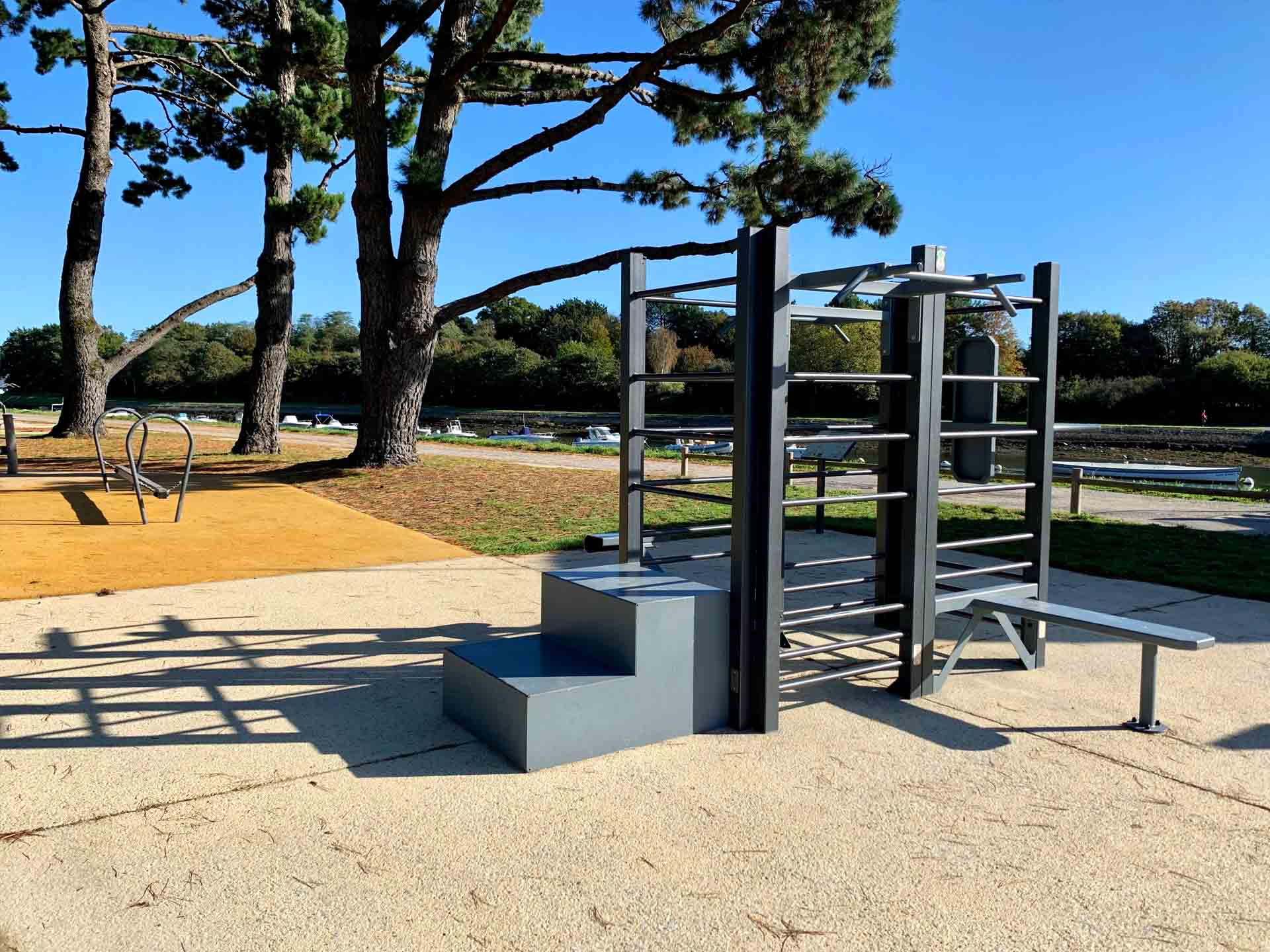 Photo de l'aire de Fitness extérieur AirFit du Parcours Santé de Vannes