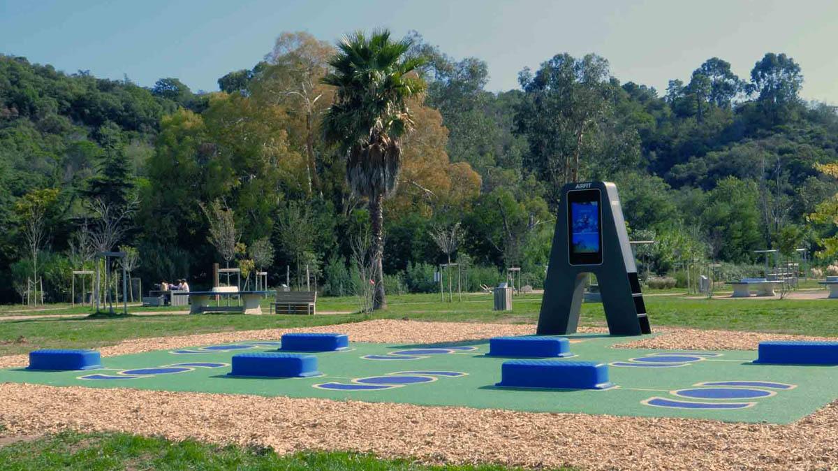 Photo du nouveau plateau sportif en extérieur du Parc de l'Argentière de Mandelieu la Napoule