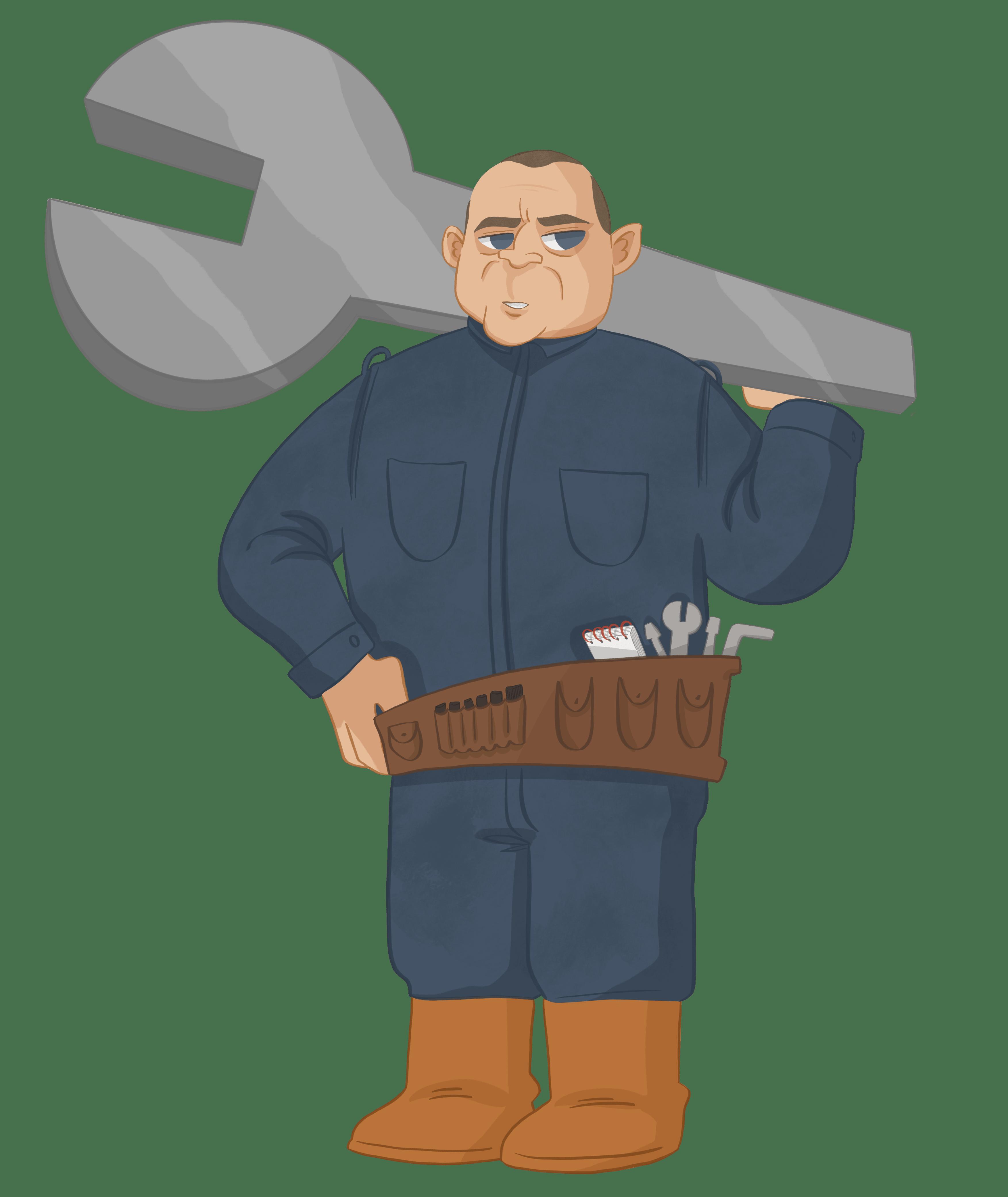 Mechanic 2nd Lieutenant Dave Clog-Plunger