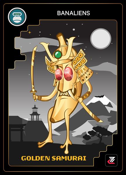 Banalien NFT - Golden Samurai