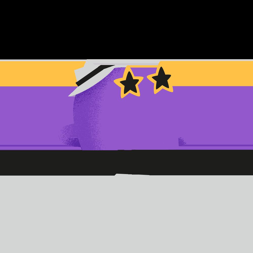Illustration - Character looking dapper