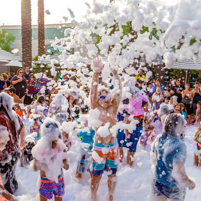 Do you get wet at a foam party?