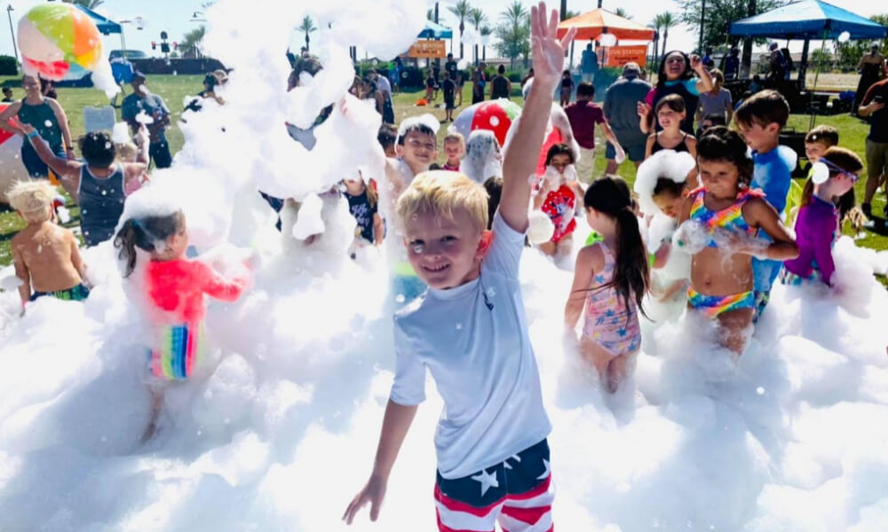 What is a foam party?