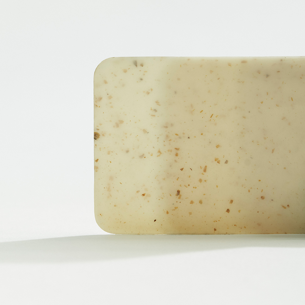 Shellworks material plaque - natural colour with speckles of organic additives.