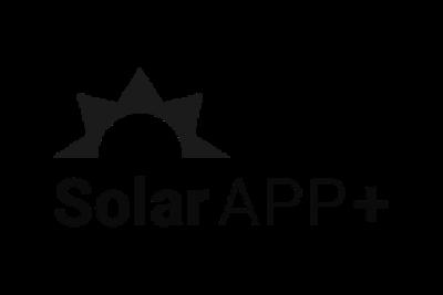 SolarAPP+ logo in black and white