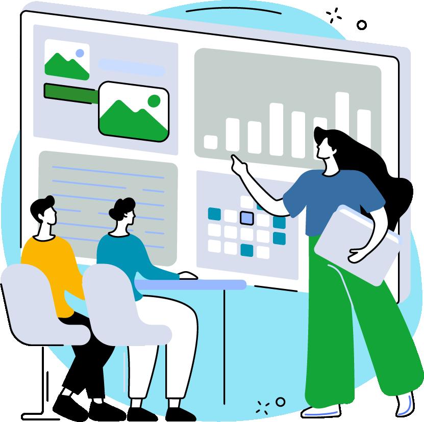 Teacher Development Aotearoa - illustrated teachers and kaiako in a professional learning and development course