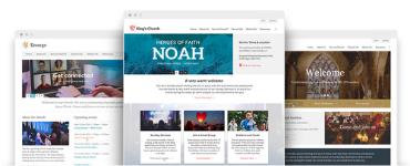 New FREE church website templates