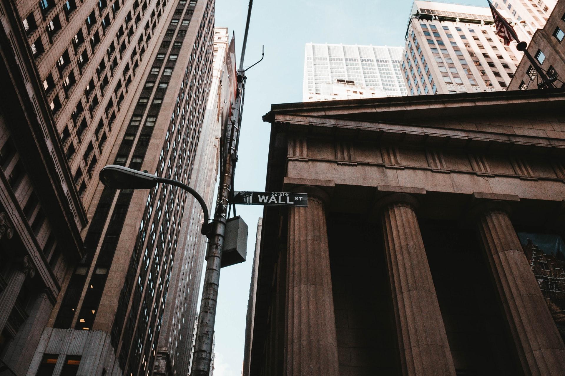 Des bâtiments de la rue Wall Street