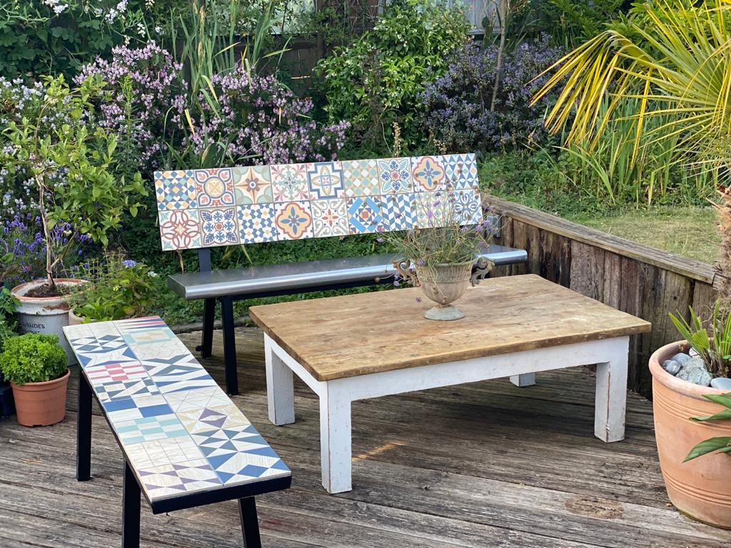 Domestic heated outdoor benches and seats. Much cheaper to run than patio heaters, easy to install.