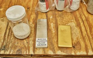 A variety of precious metal samples.