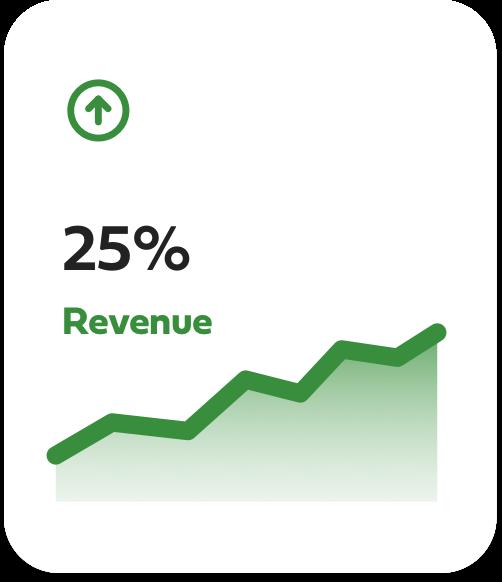 25% revenue