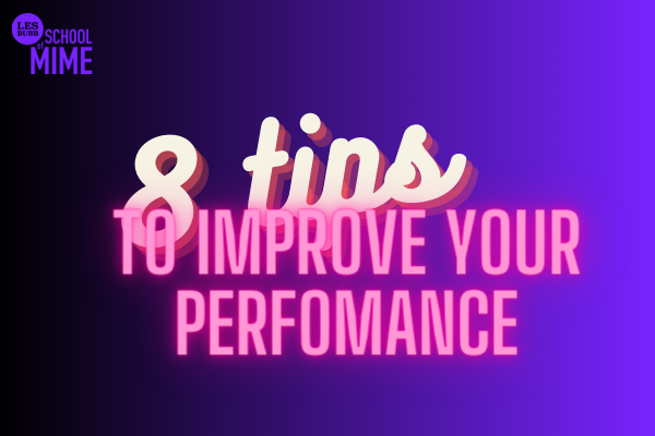 Purple and black background with the text - 8 tips to improve any performance