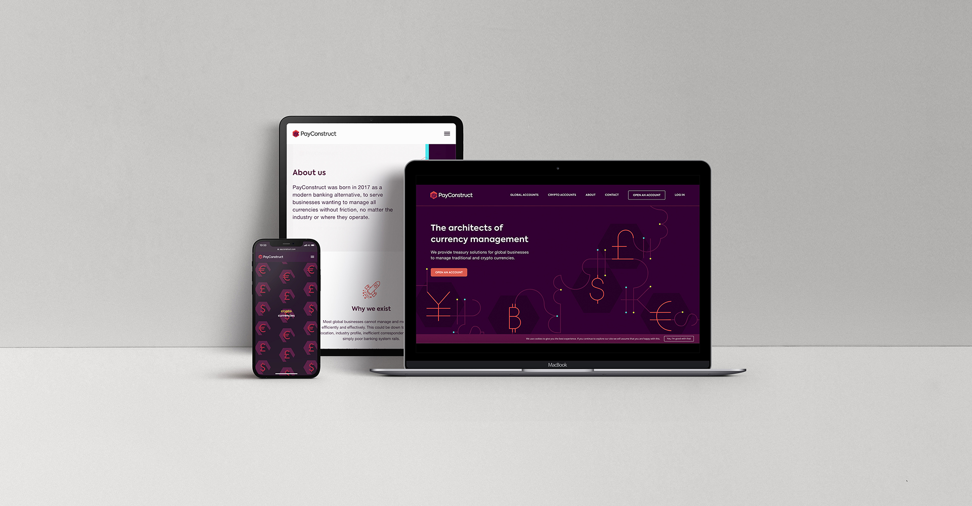 New PayConstruct website