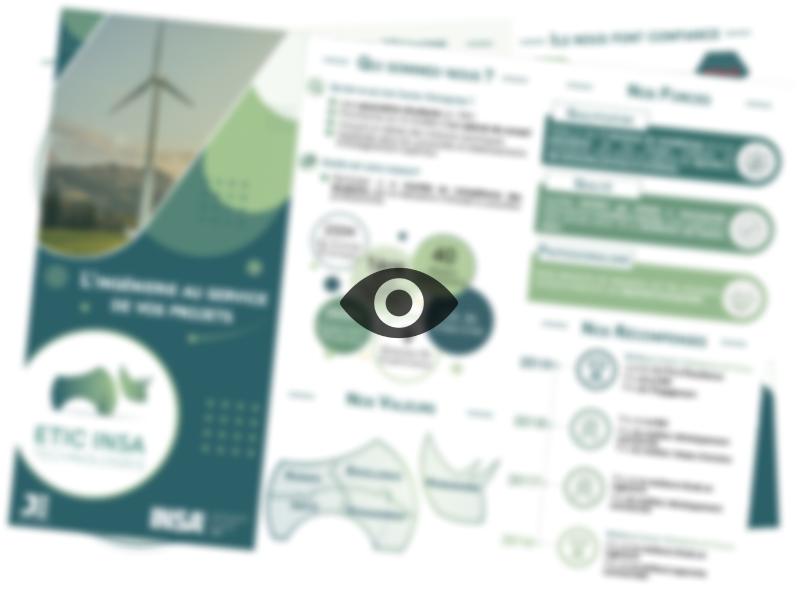 Plaquette commerciale d'ETIC INSA Technologies