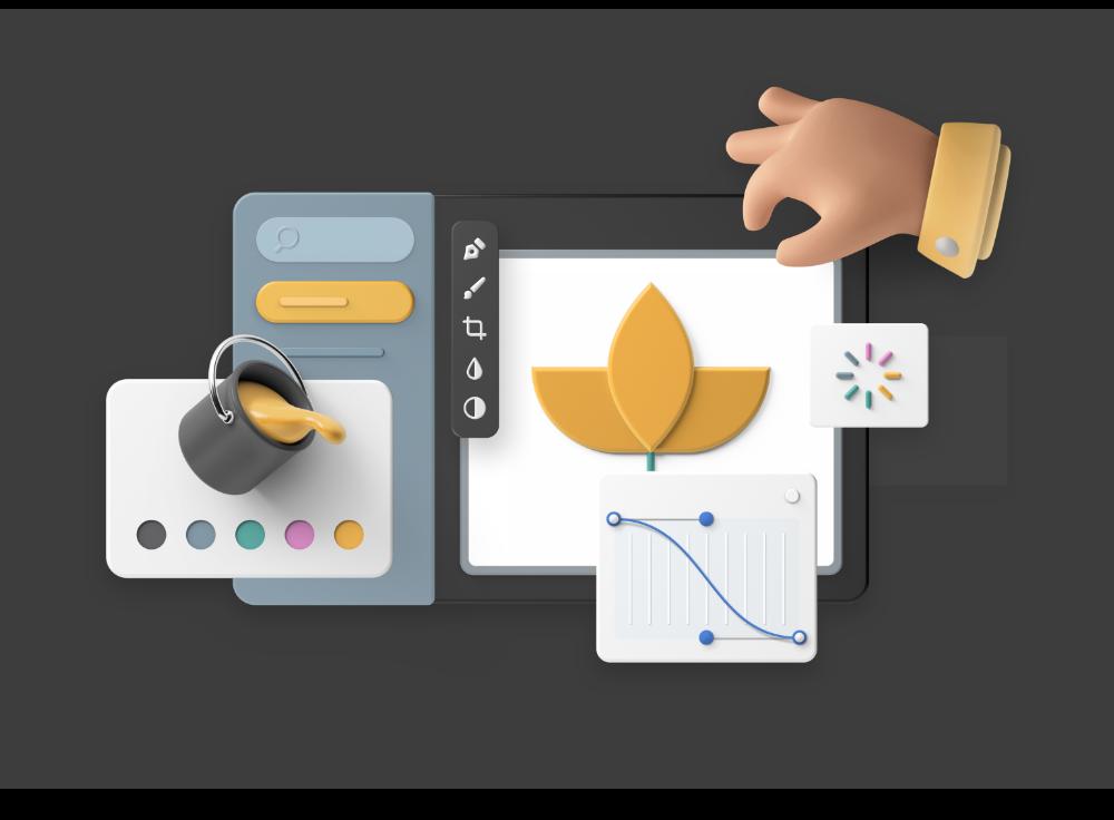 3D graphic for Ui design