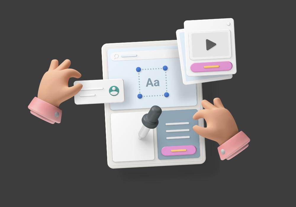 Image vertical slider for design process