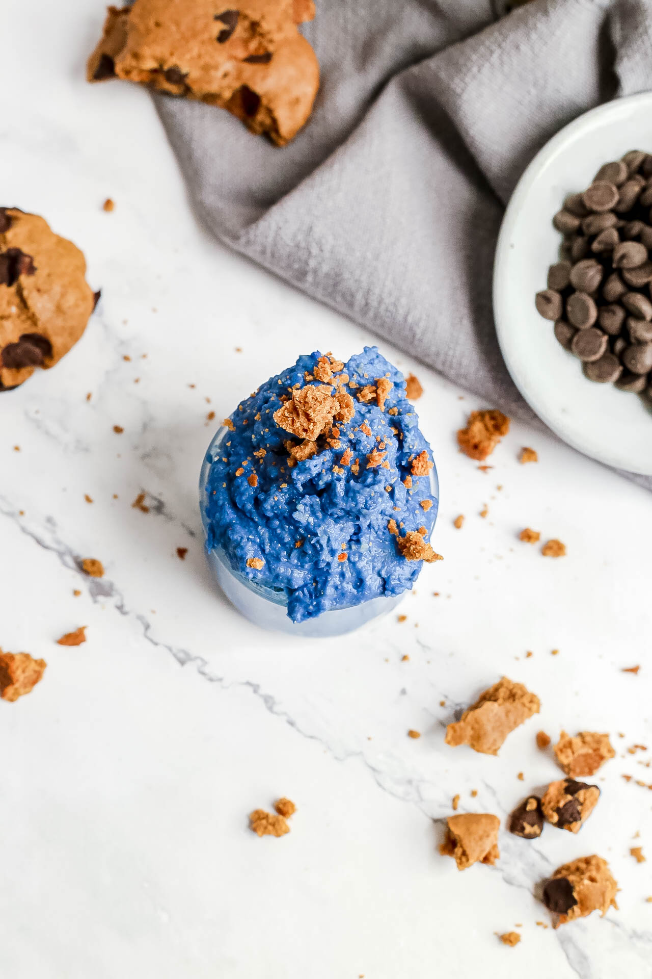 Cookie Monster Chickpea Cookie Dough