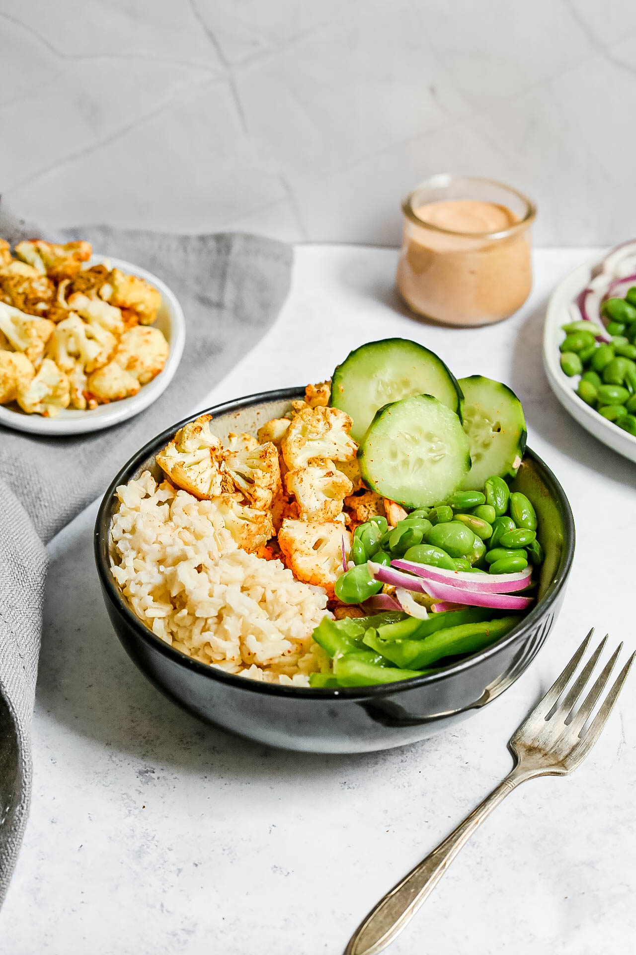 Air-Fryer Cauliflower Rice Bowls