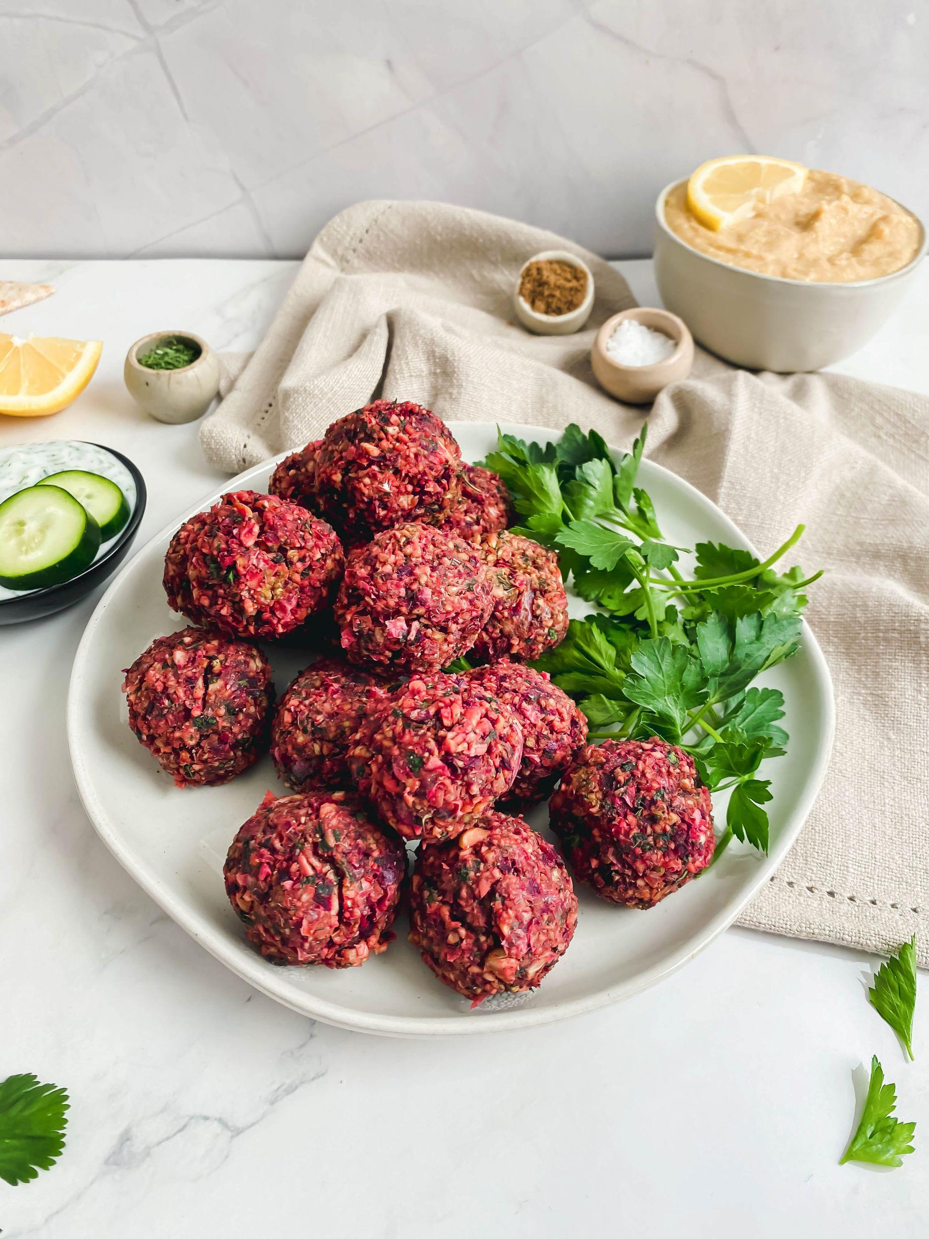 Oil-Free Beet Falafel