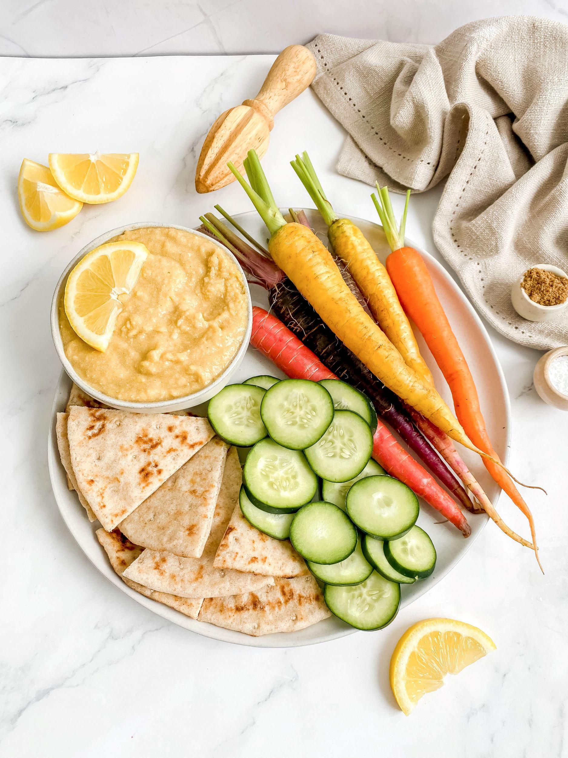 Oil-Free Lemon Zest Hummus