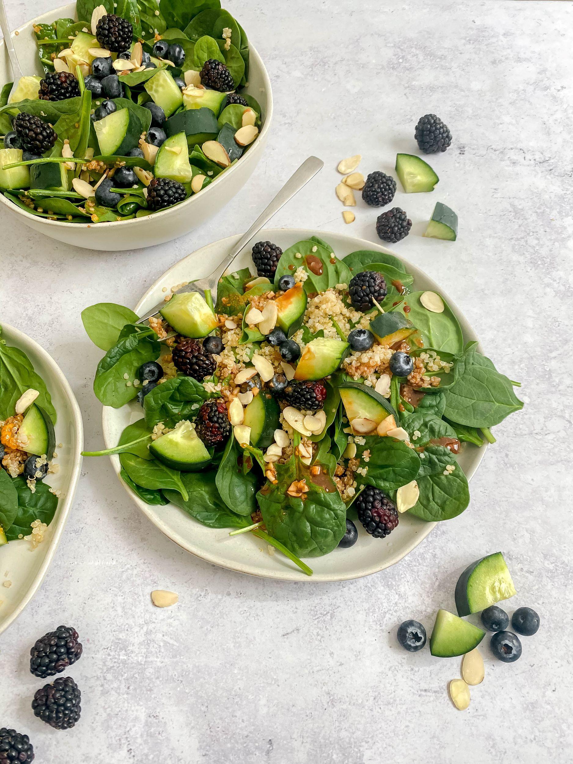 Berry Quinoa Spinach Salad