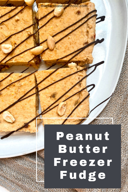 Peanut Butter Freezer Fudge Pinterest Graphic