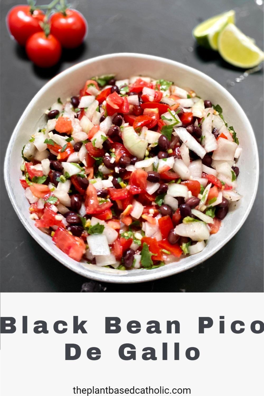 Black Bean Pico De Gallo Pinterest Graphic