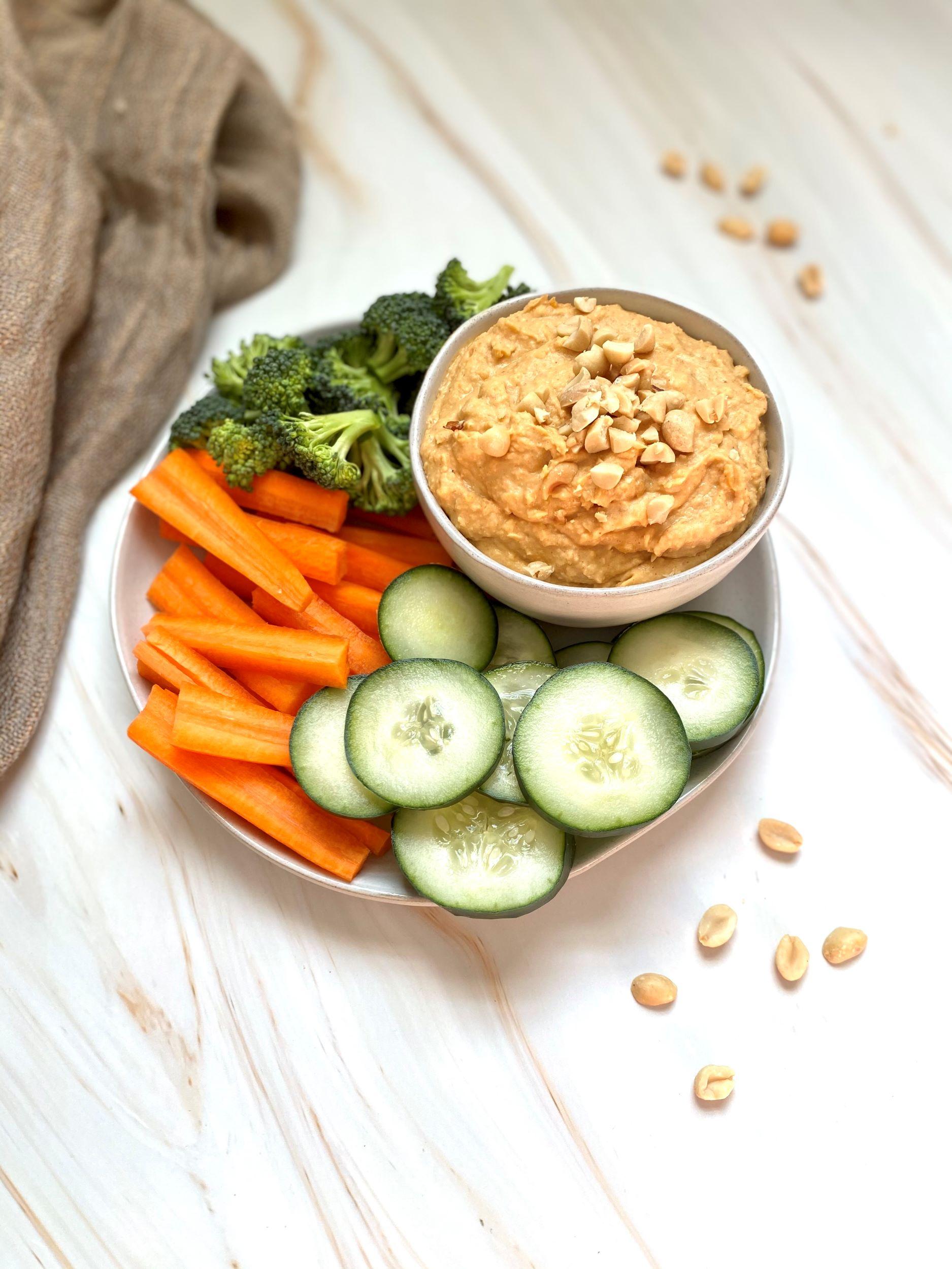 Oil-Free Thai Peanut Hummus