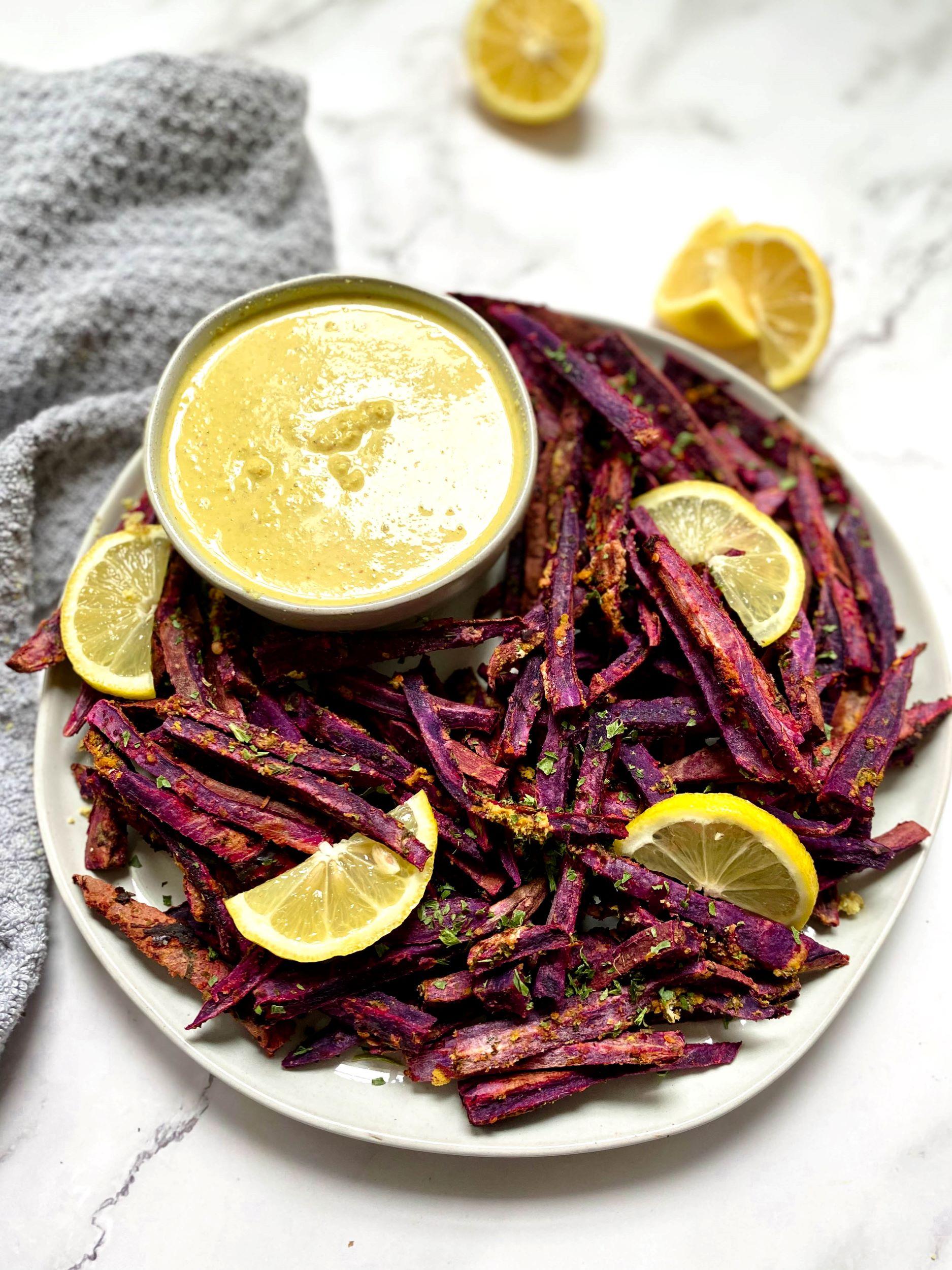 Oil-Free Purple Sweet Potato Fries
