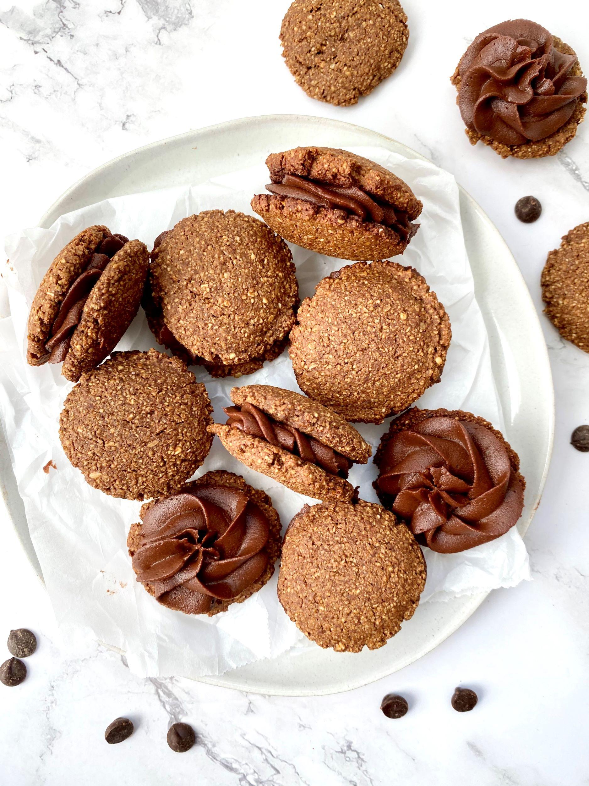 Plant-Based Mocha Sandwich Cookies